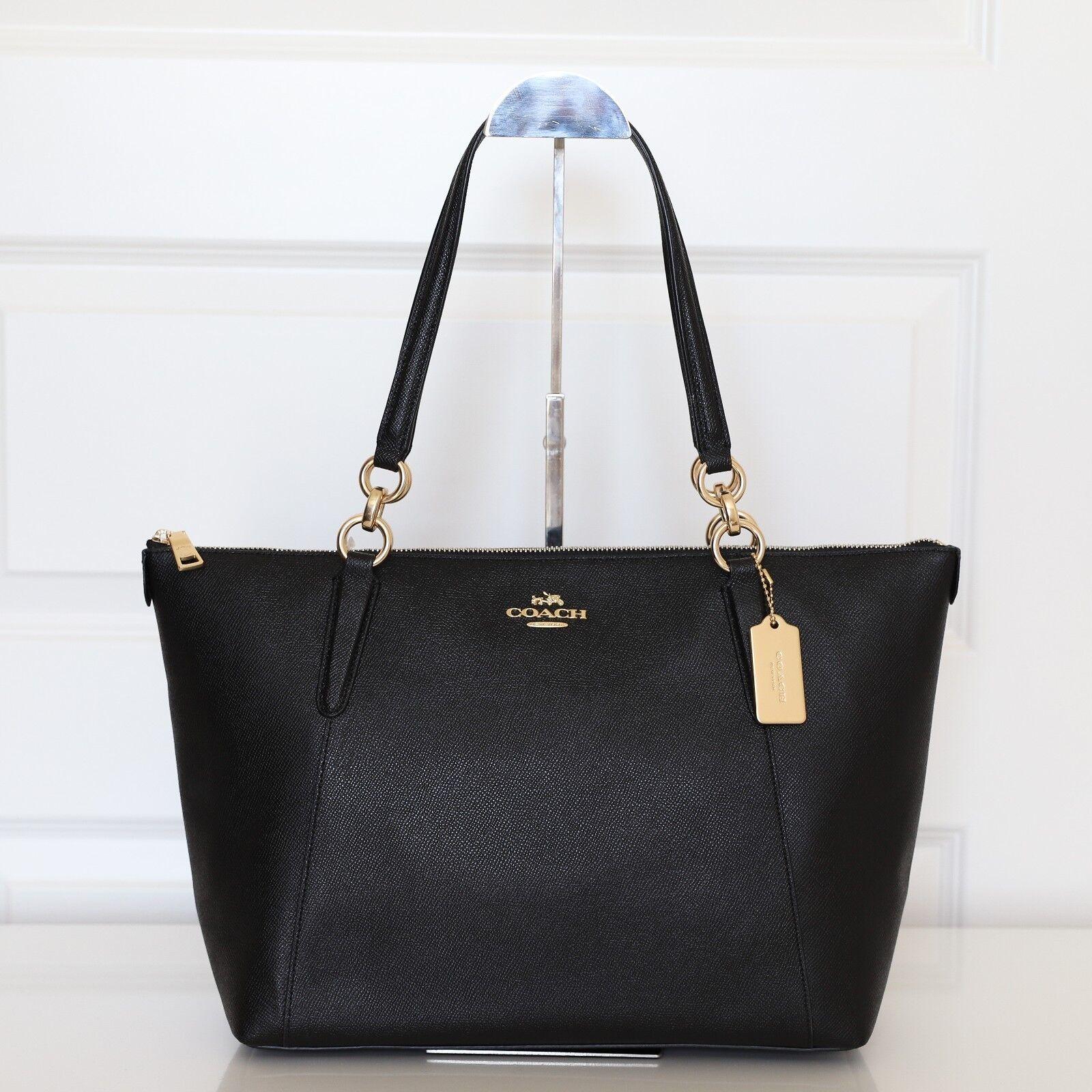 77f22b08f99 ... official new coach f57526 crossgrain ava zip tote handbag in black  bigstores 24c37 cf7ba ...