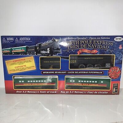 **NEW** EzTec North Pole Express Christmas Train Set Battery Operated Holiday