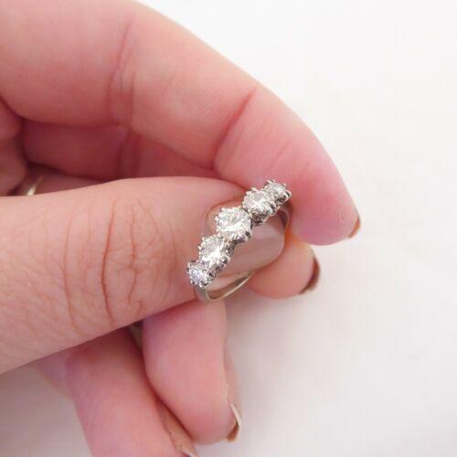 18ct gold platinum 1ct old cut diamond ring, art deco RN