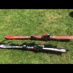 Ski pour femme Élan et ski Rossignol pour hommr