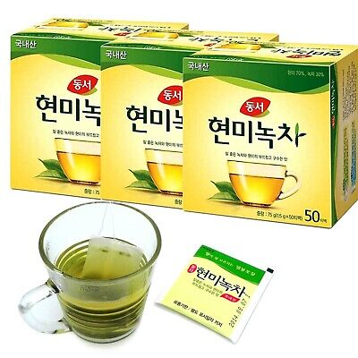 DONGSUH Korean Brown Rice with Green Tea (1,5g x 50 Tea x 3 box) 150 Tea bags