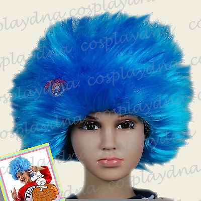 Thing 1 Wigs (Thing 1 Thing 2 Blue Jumbo Afro Wigs Halloween Kids Baby Wig (infants to)