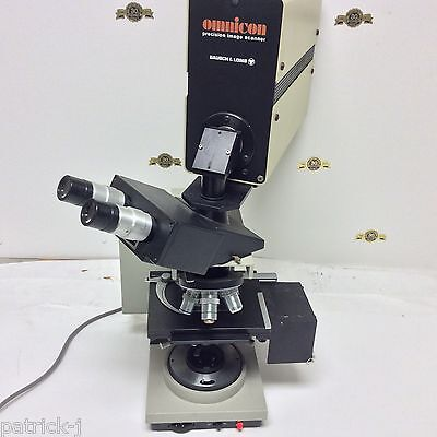 Bausch Lomb Balplan Microscope Omnicon Precision Image Scanner Leitz 4 Lens