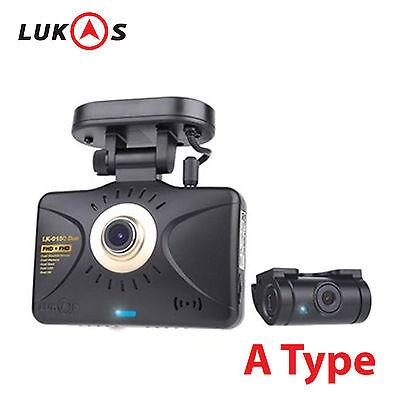 LUKAS LK-9100 DUO 8GB+8GB Full HD Touch LCD 2CH Car Dash Camera Blackbox w/o GPS