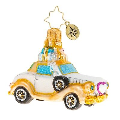 [NEW Christopher Radko WEDDING BLISS CHARIOT Christmas Ornament 1020250</Title]