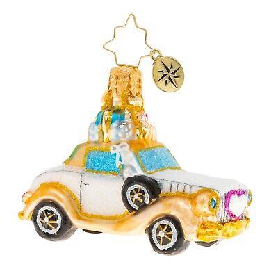 [NEW Christopher Radko WEDDING BLISS CHARIOT Christmas Ornament 1020250</Title]