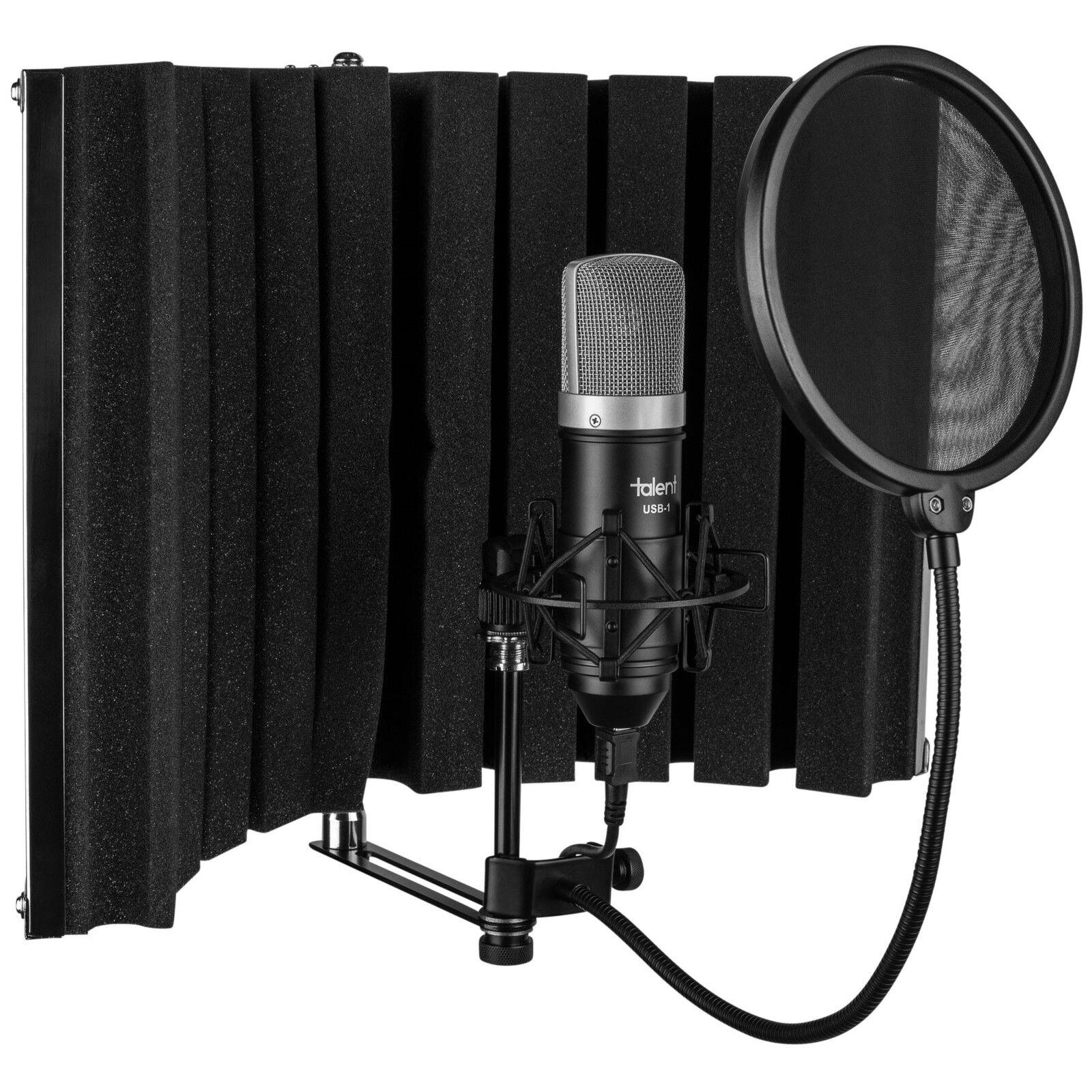 talent usb home recording studio kit vocal booth usb mic shock mount pop filter. Black Bedroom Furniture Sets. Home Design Ideas