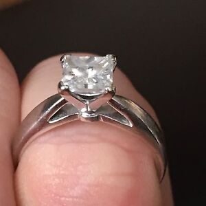 1.01 KT Princess Solitaire engagement ring