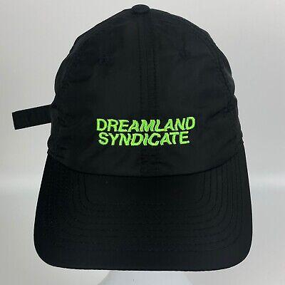 Dreamland Syndicate Nylon Unisex Hat Rare! Sold Out! Black Cap ADJUSTABLE