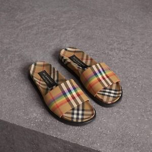 Burberry ss18 rainbow collection slides / sandals