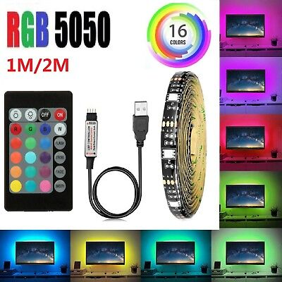 LED TV USB Backlight Kit Computer RGB LED Light Strip TV Background Lights 1M/2M (Led Computer)