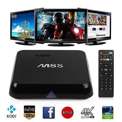 M8S Android Smart 4K TV Box Quad Core KODI (XBMC) 2GB+8GB UK WIFI