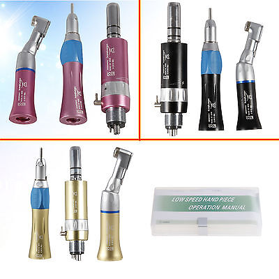 Nsk Style Dental Low Speed Handpiece Contra Angle Air Motor Straight 4 Holes