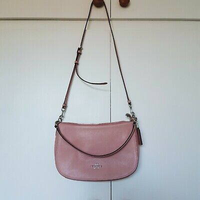 New COACH CHELSEA/ SUTTON Pink Leather Shoulder/Crossbody/Hand Bag with dustbag
