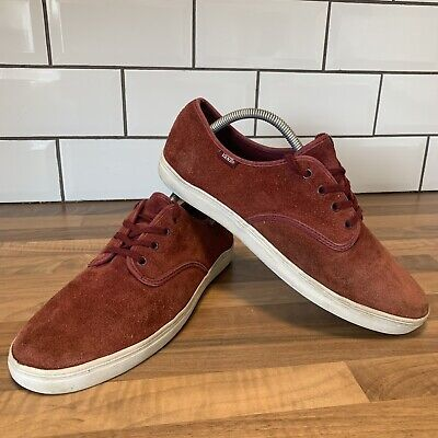 MENS VANS OFF THE WALL MAROON SUEDE SKATER SNEAKERS TRAINERS PUMPS UK 9 US 10