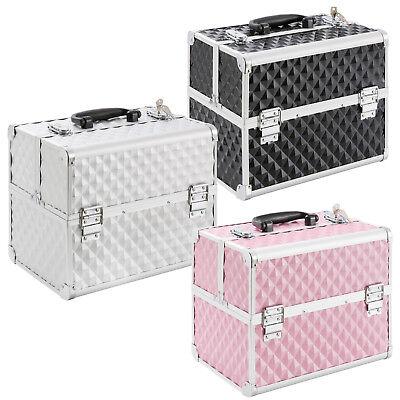Beauty Case Silber (Kosmetikkoffer Beautycase Werkzeugkoffer Multikoffer Schminkkoffer in 3 Farben)