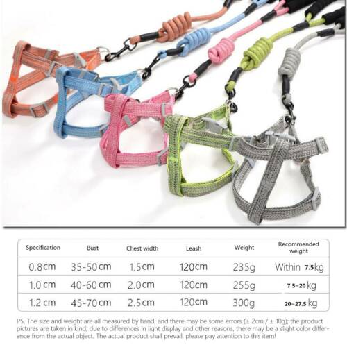 Pet Puppy Dog Cat Training Walking Traction Rope Adjustable