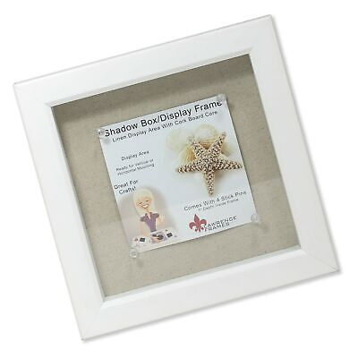 Lawrence Frames Shadow Box Frame with Linen Inner Display Board, 8 by 8-Inch,...