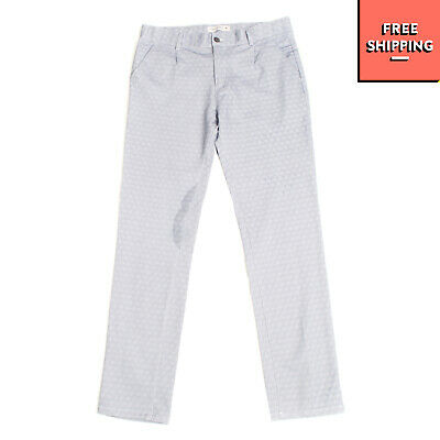 RRP €110 MANUEL RITZ Trousers Size 14Y Geometric Pattern Made in Italy