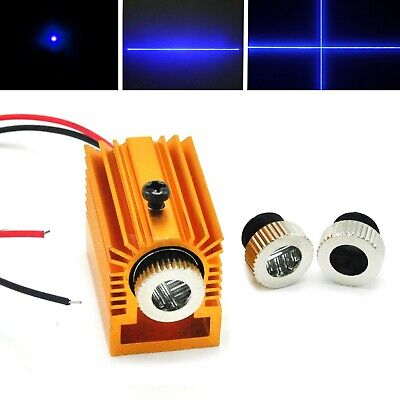 Focusable 450nm 50mw Blue Dot Line Cross Laser Diode Module W 12mm Heatsink