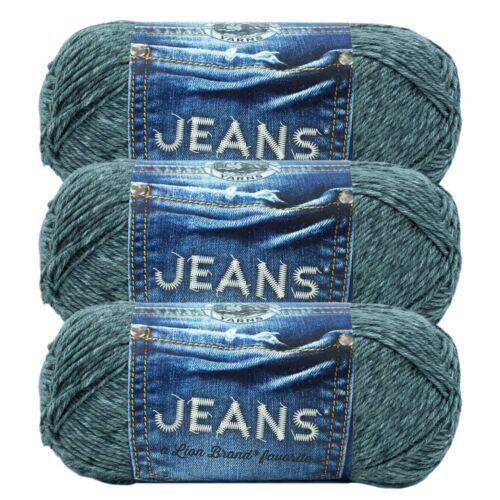 (3 Pack) Lion Brand Yarn 505-150Y Jeans Yarn, Vintage
