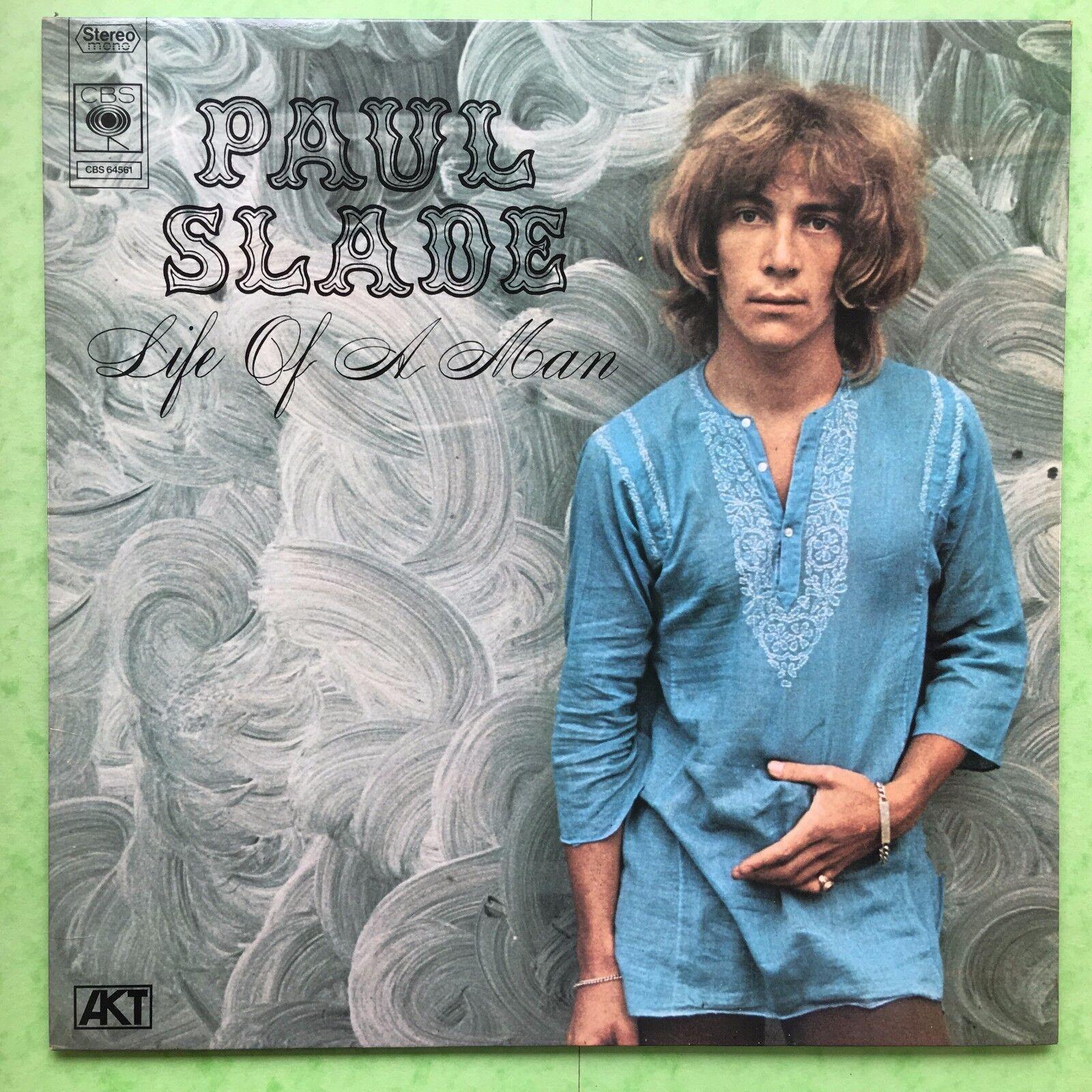 PAUL SLADE - Life of a Man - CBS 64561 EX Balsamo Vinile/LAMINATO copertina
