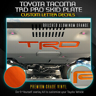 TRD Pro Skid Plate Decal Insert Fit 2016-2019 Toyota Tacoma - Brushed -