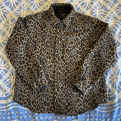 Engineered Garments Field Shirt Jacket Wool Leopard XL Oversized