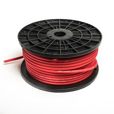 8 AWG GAUGE RED POWER CABLE OVERSIZED WIRE OFC PER METRE HIGH QUALITY 10MM2 8 Awg Power Cable