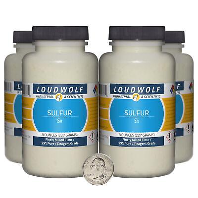Sulfur 2 Pounds 4 Bottles 99 Pure Reagent Grade Finely Milled Flour