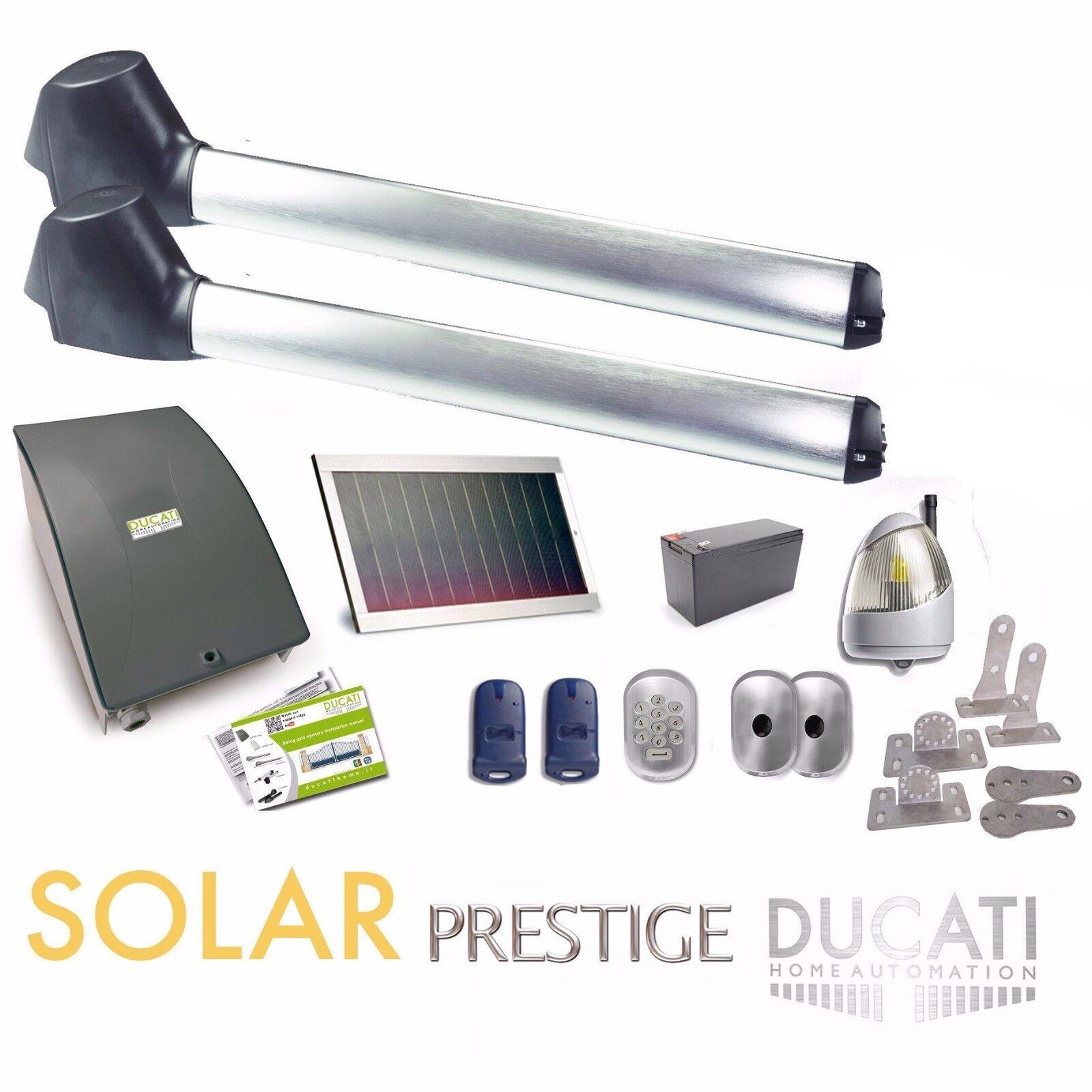 SWING GATE OPENER DUCATI EVO748 SOLAR 100% autonomous powered by solar panel