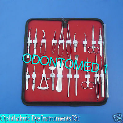 26 Pc O.r Grade Basic Ophthalmic Eye Micro Surgery Surgical Instruments Set Kit