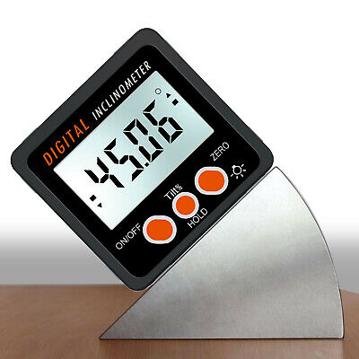 490 Magnetic Digital Protractor Angle Finder Bevel Level Box Inclinometer Us