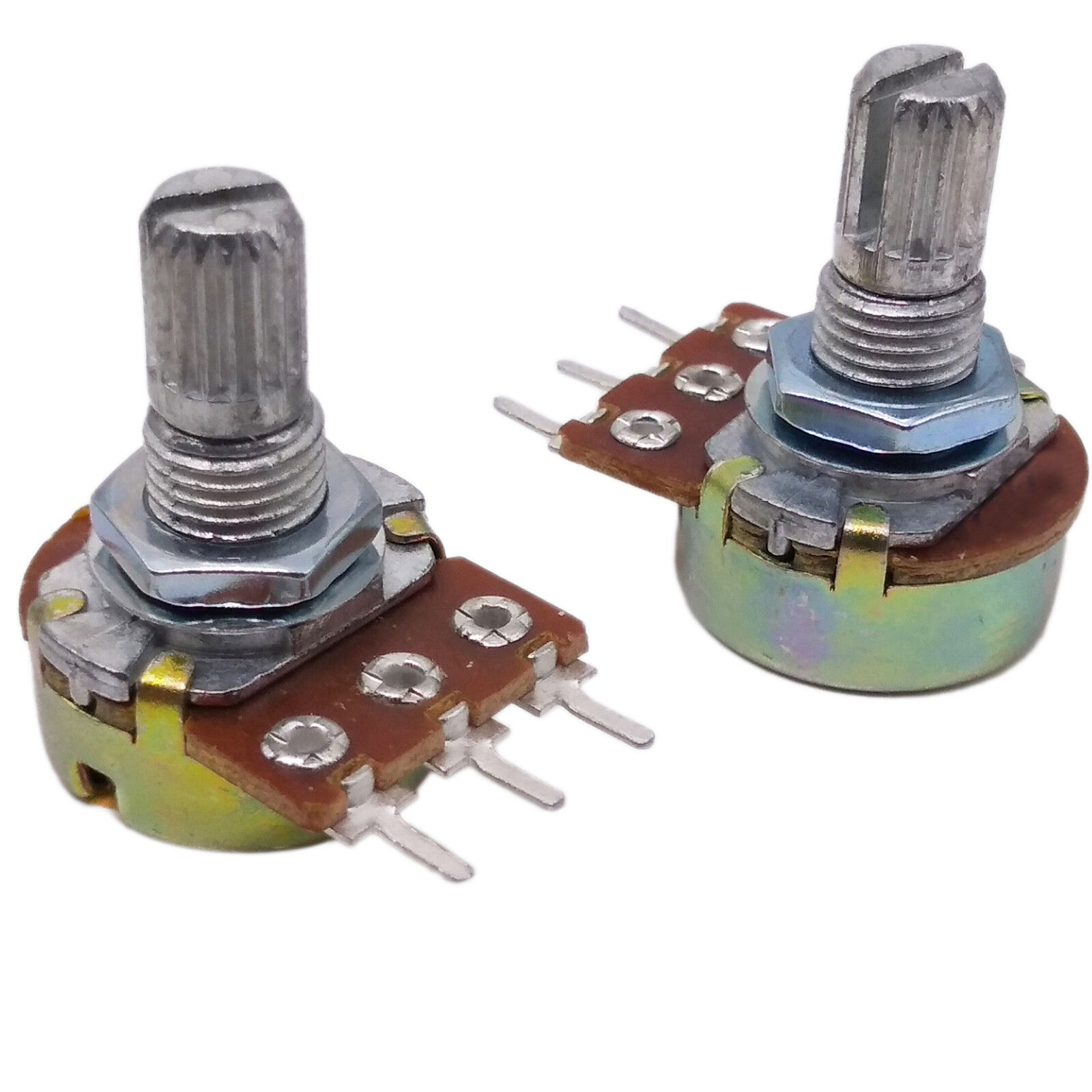 Us Stock 10pcs 220k Ohm Linear Taper Rotary Potentiometer Panel Pot Push Button Switch Latching On Off Dpdt 05a 50vdc 8x8mm B220k 15mm