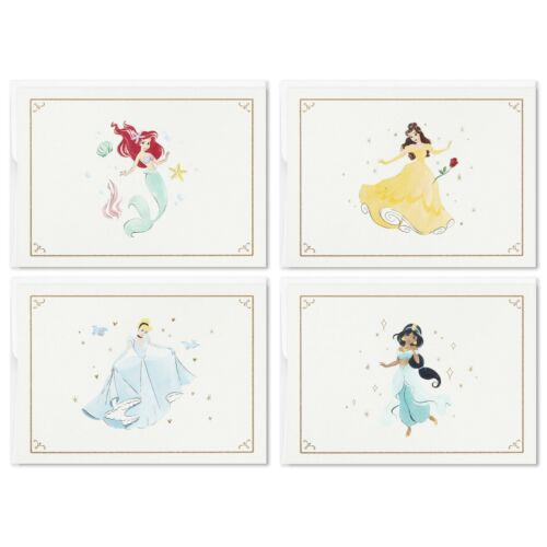 Hallmark SOM3887 Disney Princess Assorted Boxed Blank Note Cards Multipack, Pack