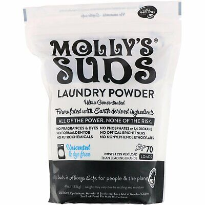 Molly s Suds  Laundry Powder  Ultra Concentrated  Unscented  70 Loads  47 oz  1 Ultra Laundry Powder