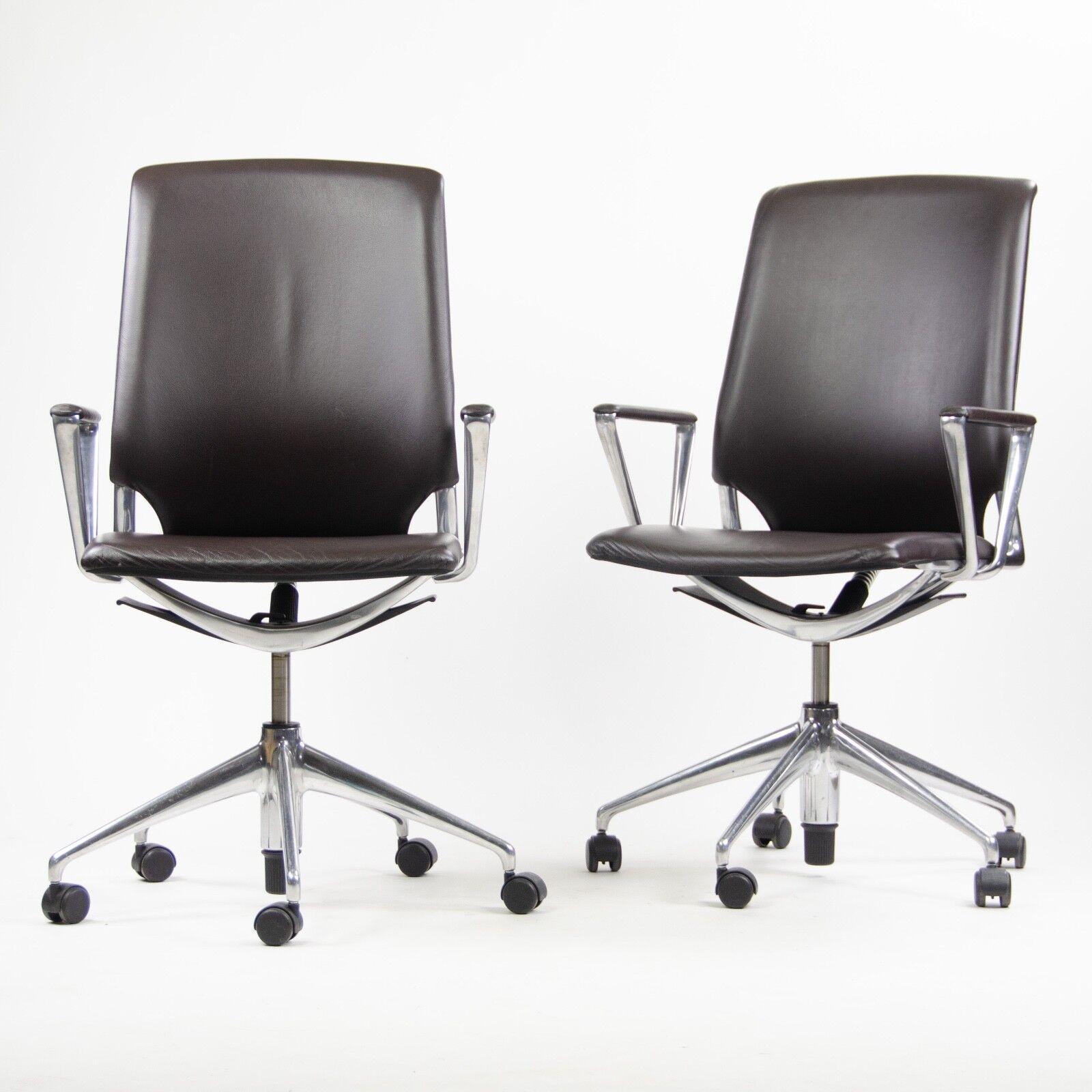 Alberto Meda Design.Details About Vitra Alberto Meda Desk Chair Brown Full Leather Knoll Herman Miller 16x Avail