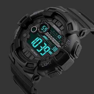 Man Plastic Sports Style Watch (SKMEI Men's Black G Style Military Digital LED Alarm Chrono Shock Sport Watches )