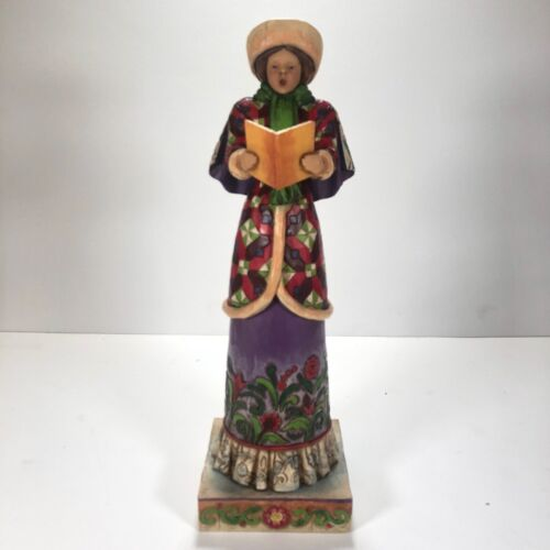 """Jim Shore Woman Caroler """"Here We Come A Wandering So Far To Be Seen"""" 4005327"""