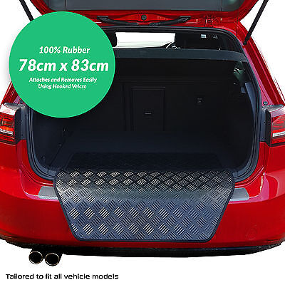 Audi A4 2001 - 2007 Rubber Bumper Protector + Velcro! (BK)