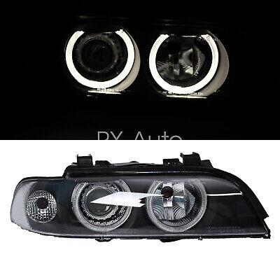 For BMW 96-03 E39 525i 528i 530i LED Halo Projector Headlights Head Lamps