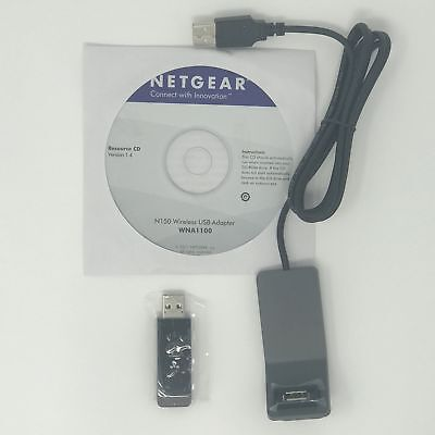 Netgear WNA1100 N150 Wireless Adapter IEEE 802.11b/g/n USB 2.0 Up to 150M