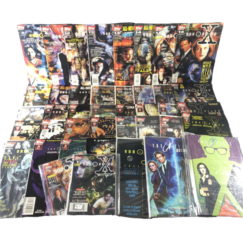 X-Files Topps 41 Comics Lot Huge Collection Spans 4-37 & TPB Special Ed Digest