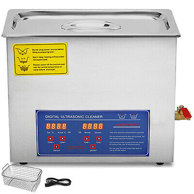 New 6L Ultrasonic Cleaner Stainless Steel Industry Heated He