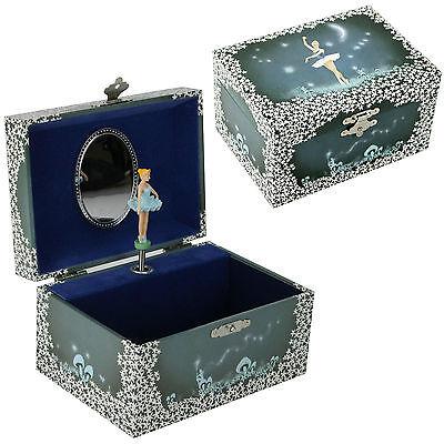 Schmuckkästchen Ballerina Sternenhimmel nachtblau Spieluhr Schmuckdose Sterne