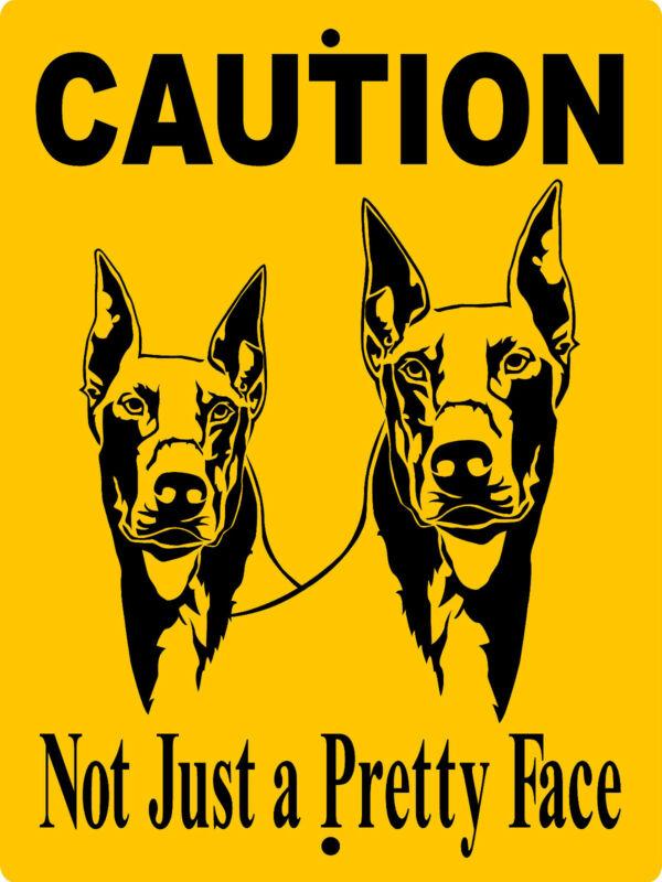 DOBERMAN PINSCHER  ALUMINUM SIGN VINYL DECAL DOG WARNING  CD1