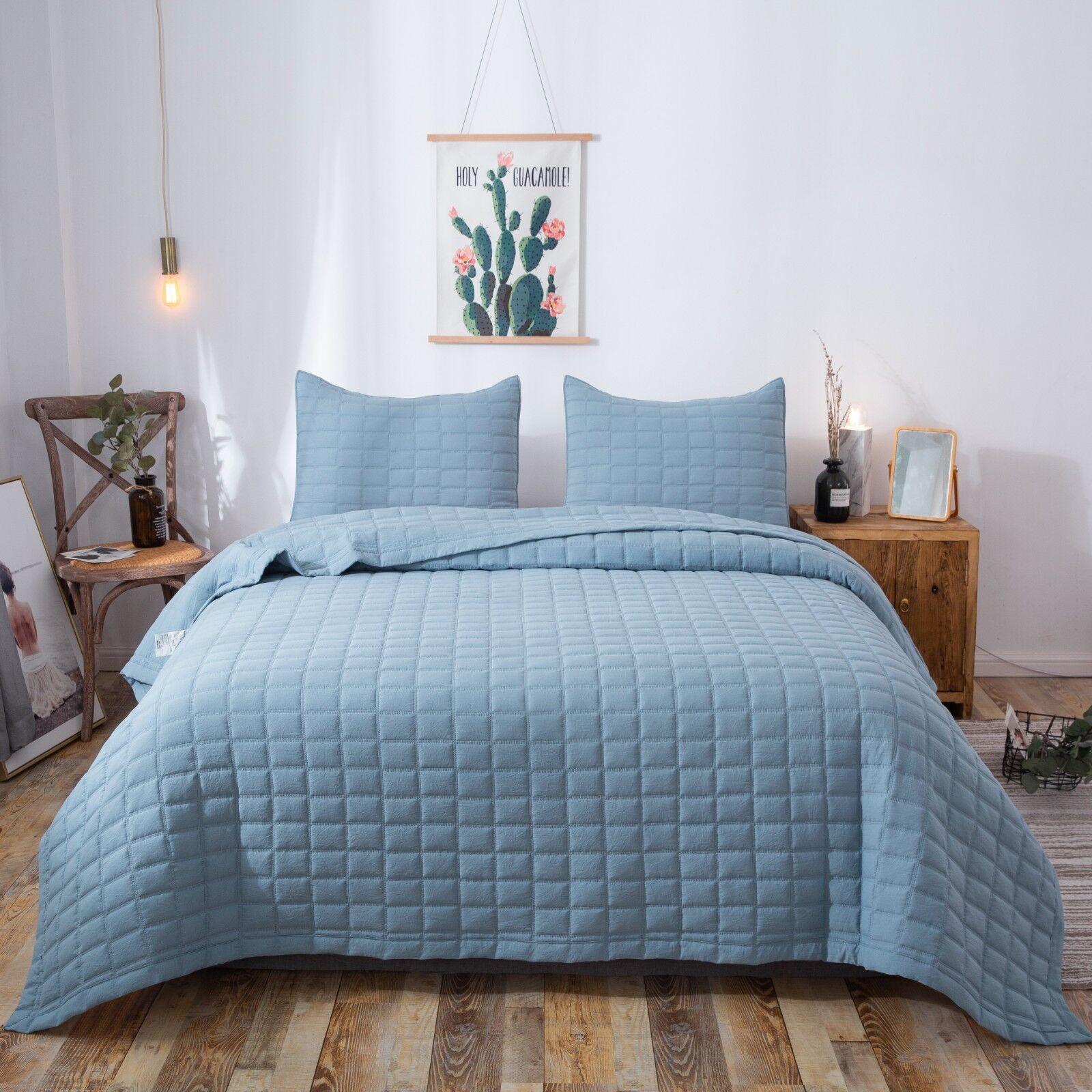 Kasentex Hotel Luxury Stone-Washed Quilt Set.100% Ultra Soft