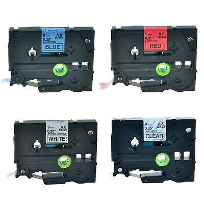4pk Tze Tz 121 221 421 521 Label Tape Set For Brother P-touch Pt-520 Pt-h100