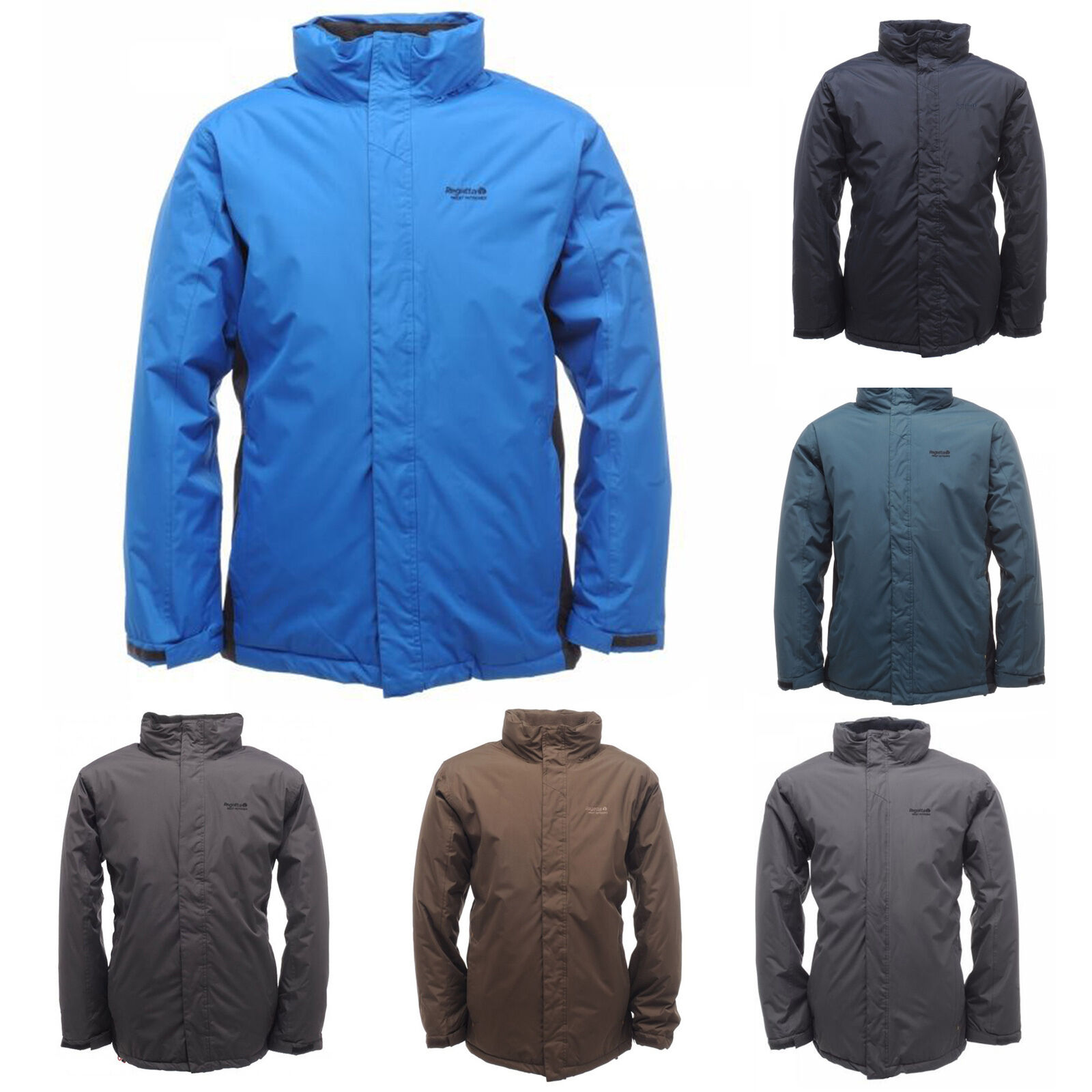 Regatta Mens Jacket Waterproof Padded Hydrafort Fleece Lined ...