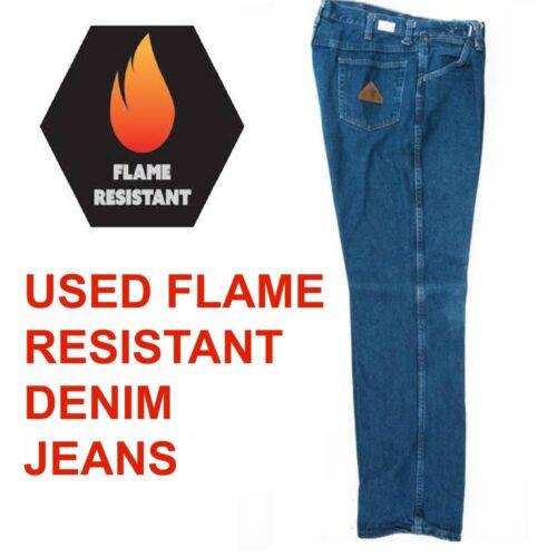 Used Flame Resistant Fr Work Jeans Cintas, Workrite, Flame Retardant - Free Ship